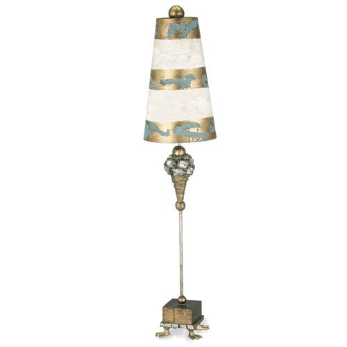 flambeau lighting pompadour luxe gold and silver table lamp