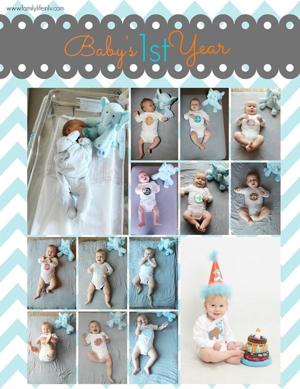 Baby's First Year! Monthly Baby Pictures from Our Knight Life #Baby