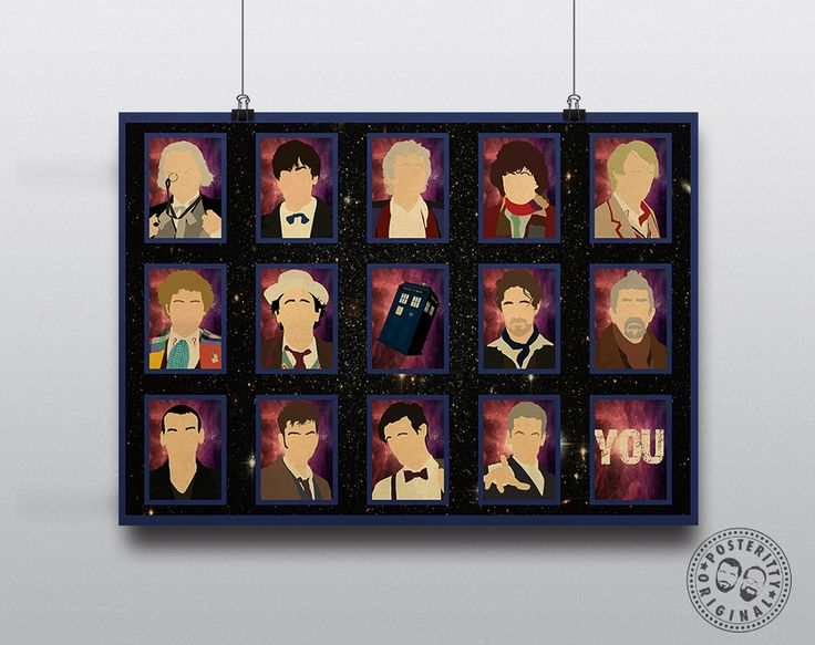 Personalised Dr Who Print - YOU are the next Doctor! #DrWho #Tardis #Posteritty #Minimalist #DavidTennant #MattSmith #Whovian