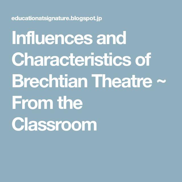 characteristics of epic theatre