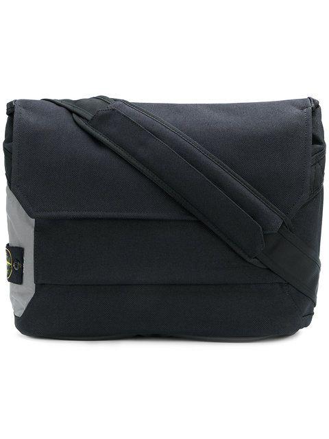 Stone Island flap messenger bag