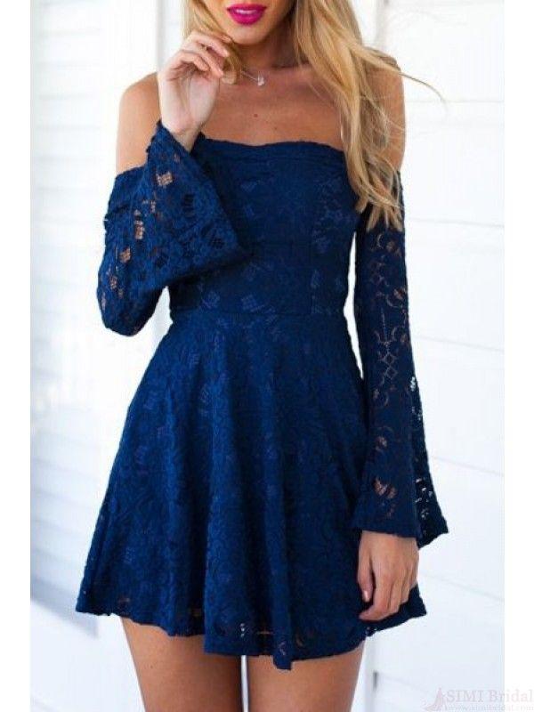 homecoming dresses 2017,strapless  homecoming dresses, long sleeves homecoming dresses, lace homecoming dresses, cute graduation dresses,short mini cocktail dresses#SIMIBridal #homecomingdresses