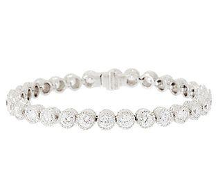 Judith Ripka Sterling 118 Facet Diamonique Tennis Bracelet