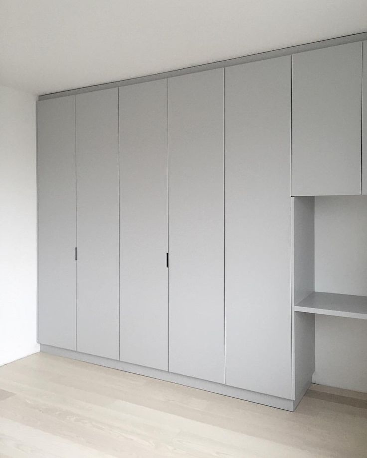 custom made wardrobe, grey, built in desk | Minna Jones                                                                                                                                                                                 More