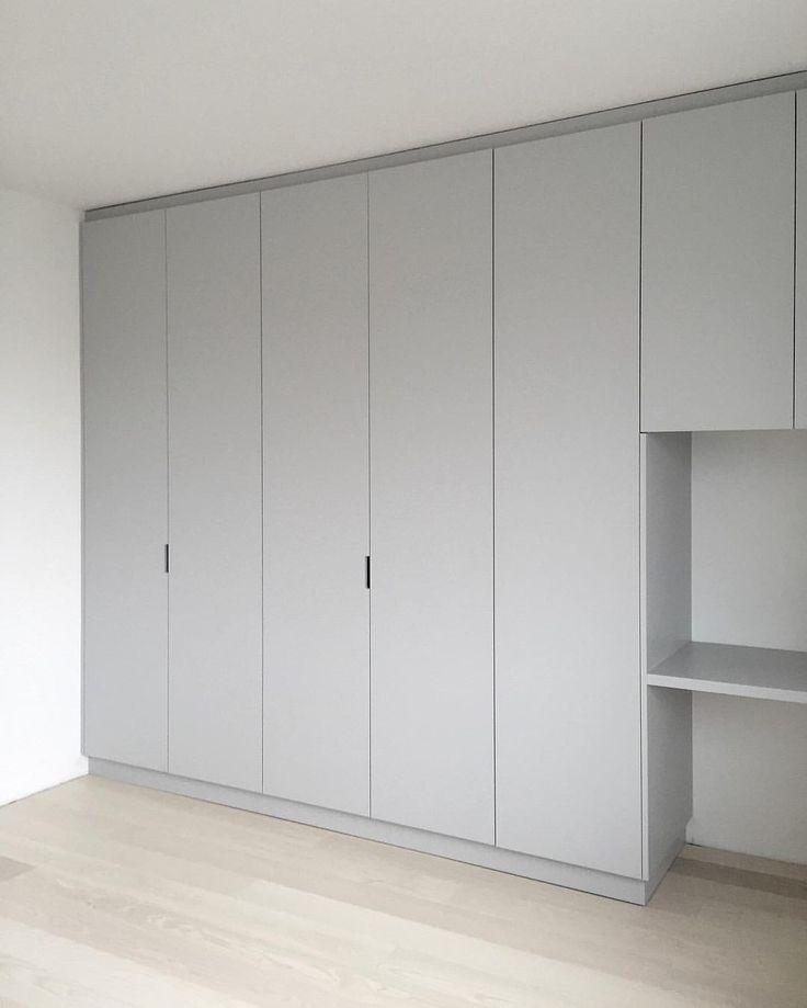custom made wardrobe, grey, built in desk | Minna Jones