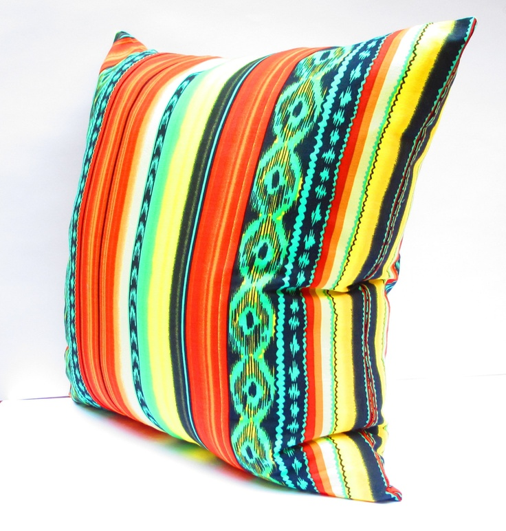 Southwestern Decor, Aztec Pillow Covers, Tribal Cushion covers, Colorful Pillow Covers, Bohemian Decor, Large Pillow Cover 20 Inch. $30.00, via Etsy.
