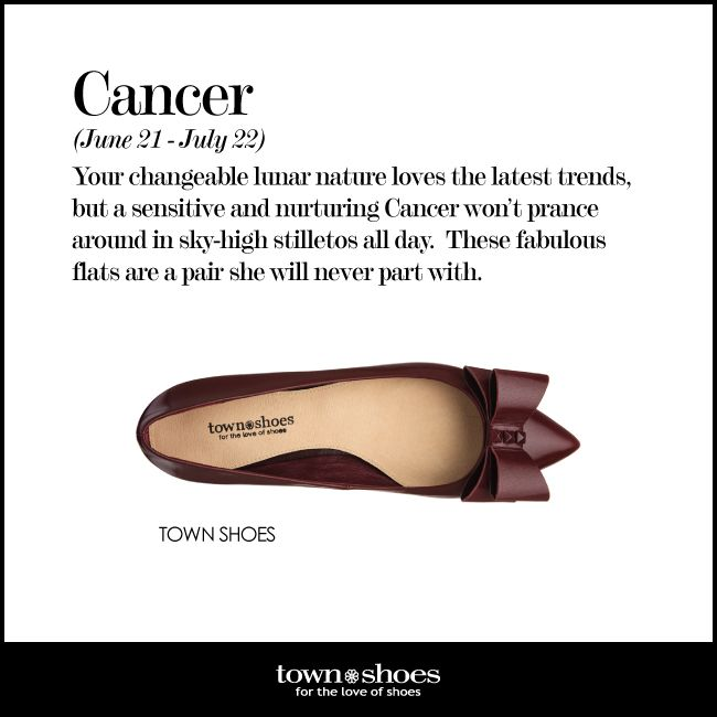 Do you love the latest trends like a true #Cancer? #horoscope #townshoes