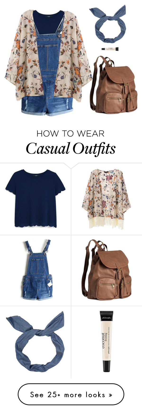 """Cute Casual"" by that-fangirl-u-luv on Polyvore featuring MANGO, H&M and philosophy"