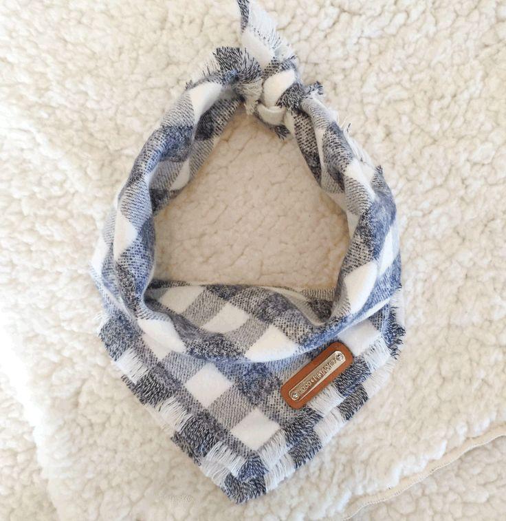 White and Grey Dog bandana from Coco and Pistachio: Zane
