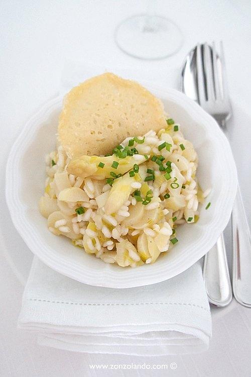 Risotto con asparagi bianchi - White asparagus risotto | From Zonzolando.com