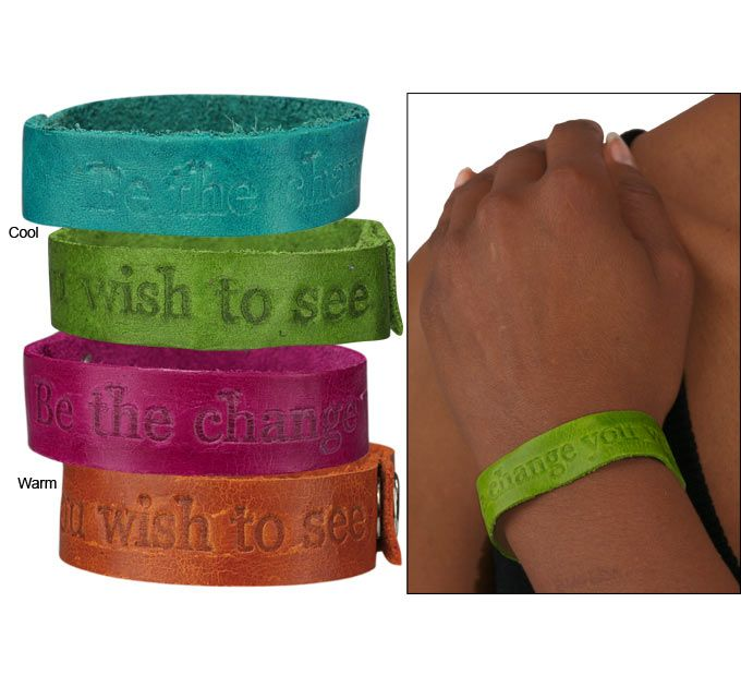 Recycled Leather Be The Change Bracelet at The Animal Rescue Site