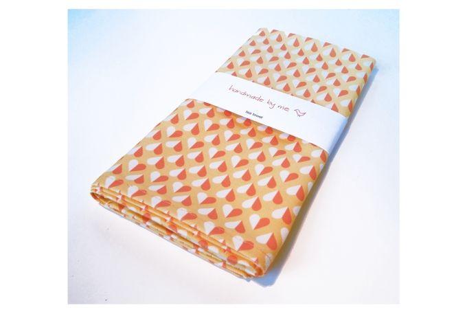 Sweet Hearts Tea Towel by handmade by me on hellopretty.co.za