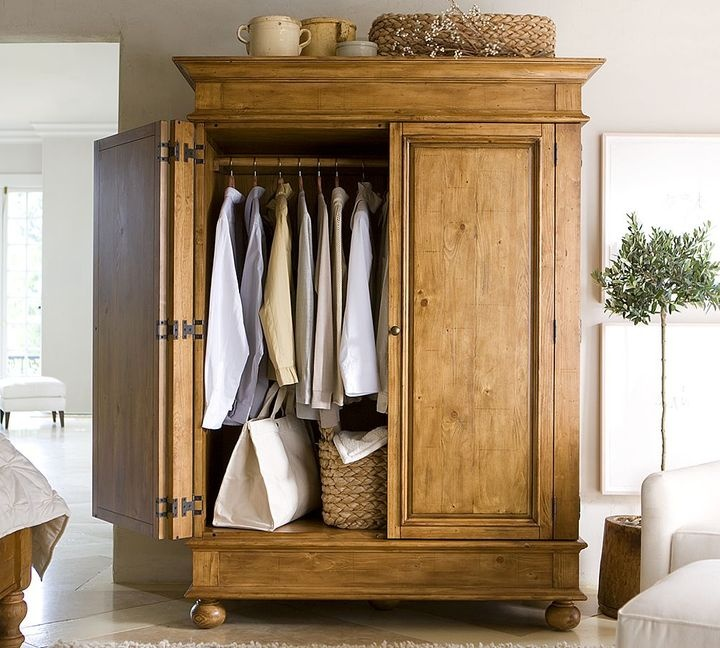 pottery barn belvedere armoire for sale refuge. Black Bedroom Furniture Sets. Home Design Ideas