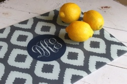 Clairebella Personalized Ikat Cutting Board from Posh Little Shop