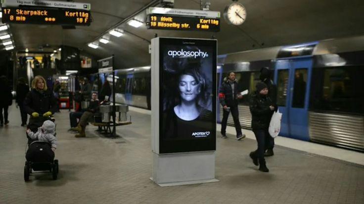 地下鉄の突風で乱れても大丈夫!美髪を訴求するアンビエント広告  |  AdGang