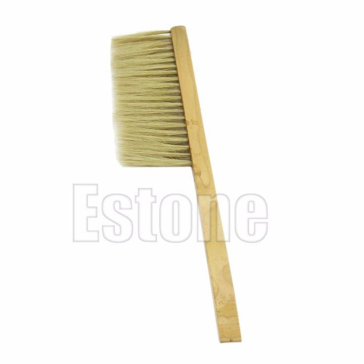 E74 1 шт. природный свинья гриву пчеловодства пчелиный улей щетки инструмент деревянная ручка новый