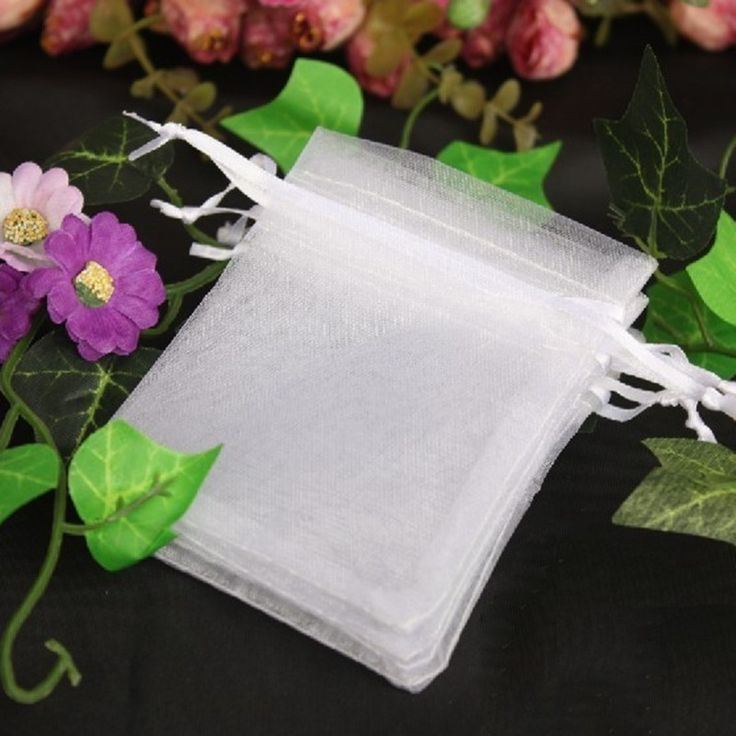 100pcs White Organza Jewelry Pouch Wedding Party Favors Candy Gift Bags 10x12cm Collect Your Jewelry Nail Tips