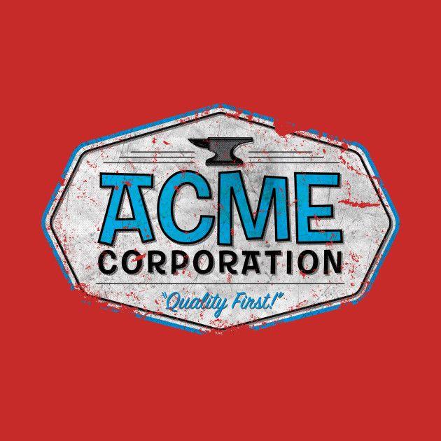 acme corporation logo. awesome \u0027acme+corporation+-+vintage\u0027 design on teepublic! acme corporation logo a