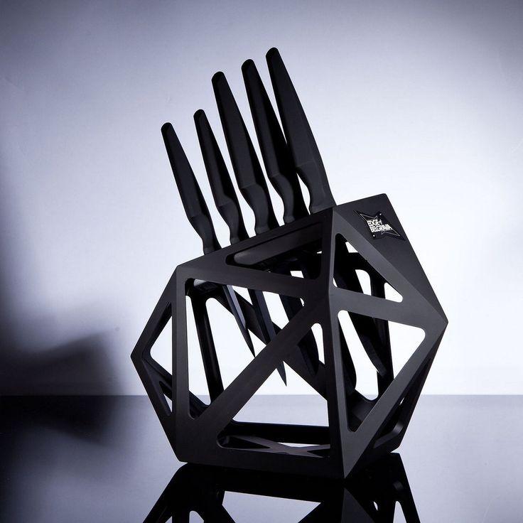 BLOC DE COUTEAU EN DIAMANT NOIR [ART/DECO]  ......  Prestigieux dans sa conception et l'architecture unique de qualité en diamant noir, placez le bloc de couteau à l'épicentre de l'intérêt pour de nombreux chefs et cuisiniers du monde entier.
