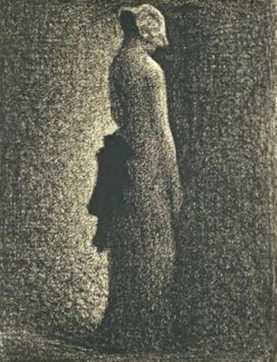 Georges Seurat (1859-1891. Le noeud noir