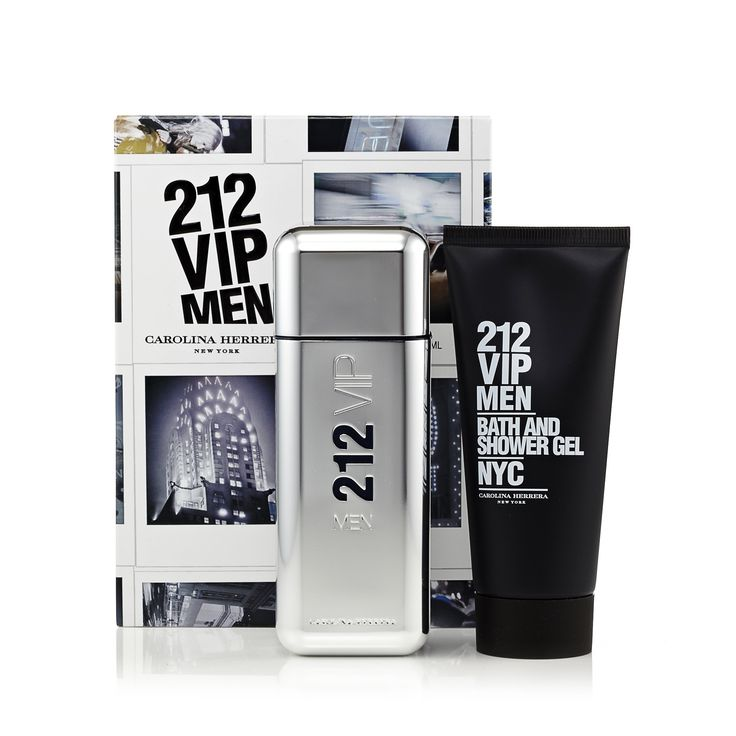212 Vip Gift Set EDT and Shower Gel for Men by Carolina Herrera