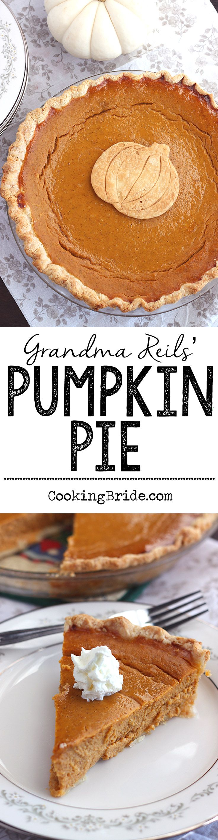 This super easy, traditional pumpkin pie recipe will be a hit on your Thanksgiving dessert table.