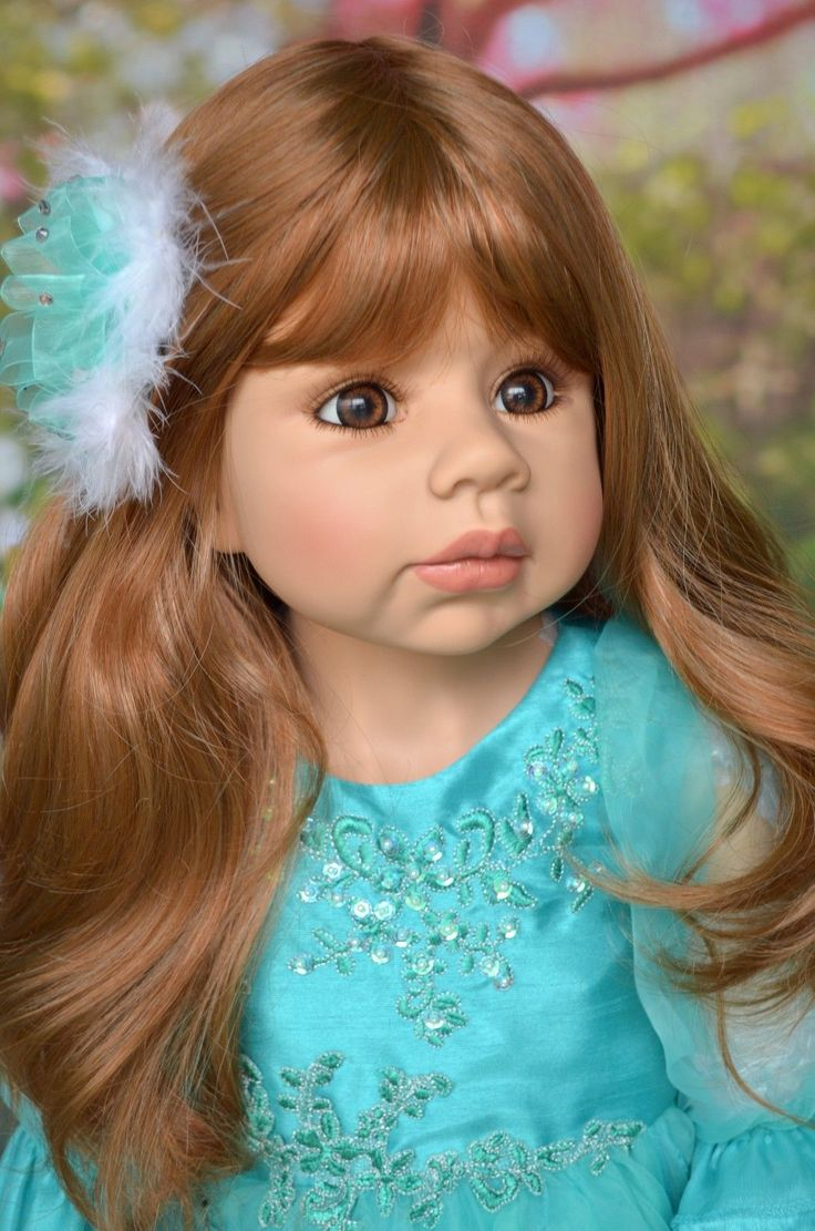 Masterpiece Dolls Jasmine Strawberry Blonde Brown Eyes by Monika Levenig 39"