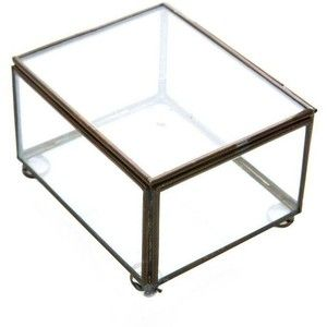 Pre-owned Brass & Glass Display Box