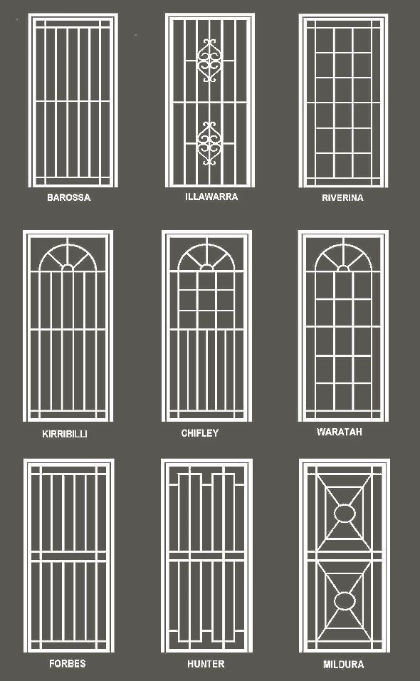 19 best window grills images on pinterest wrought iron for Modern house grill design
