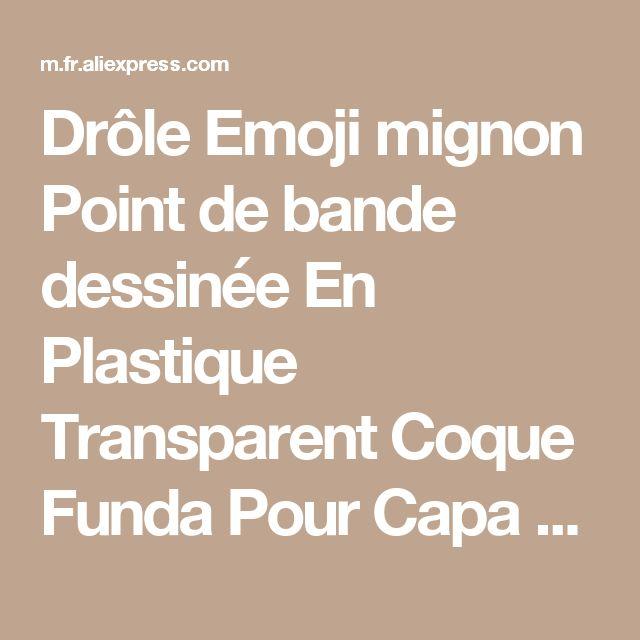 Drôle Emoji mignon Point de bande dessinée En Plastique Transparent Coque Funda Pour Capa Para Cas de couverture pour l'iphone SE 5 5S 6 6 S 6 Plus 7 7 Plus de la boutique en ligne | Aliexpress mobile