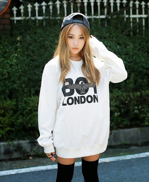 oversized boy london sweater. the clothing line is actually fab