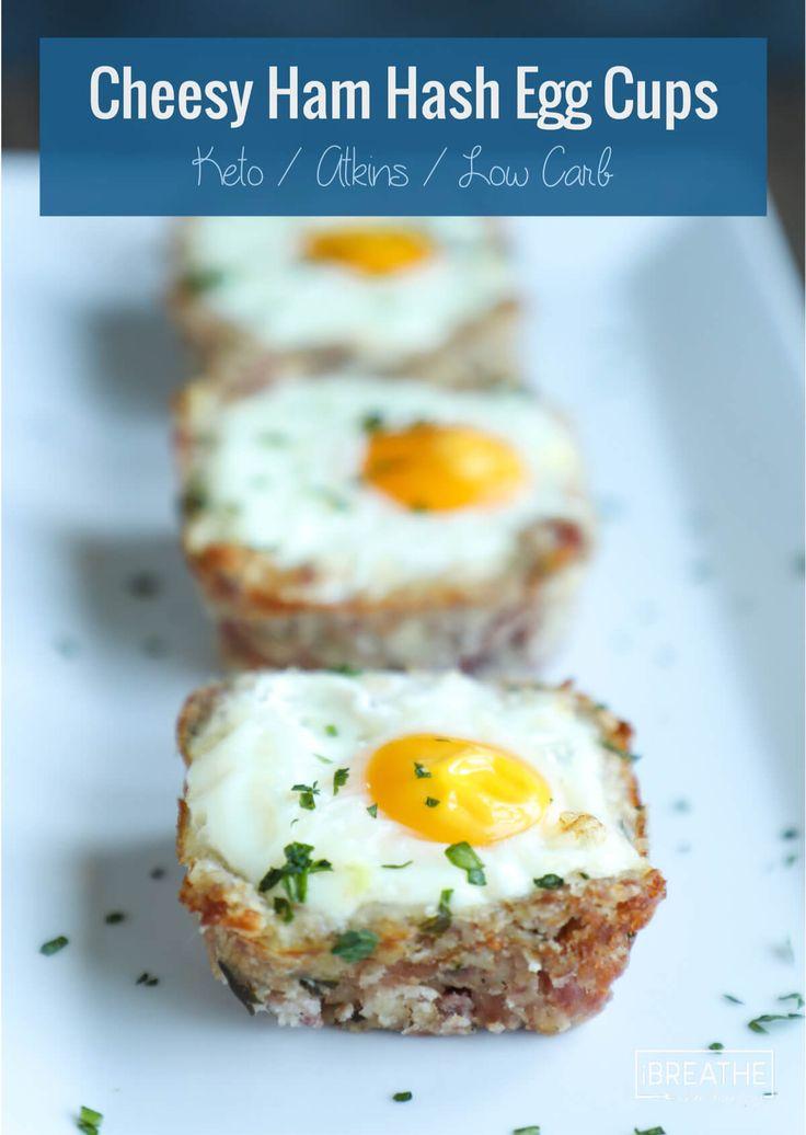 Cheesy Ham Hash Egg Cups - Low Carb & Keto