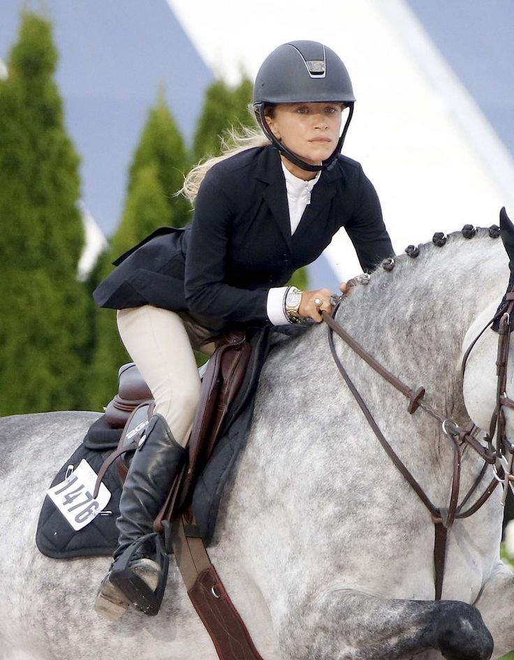 Mary-Kate Olsen Shows Off Her Wedding Ring While Riding a Horse in the Hamptons