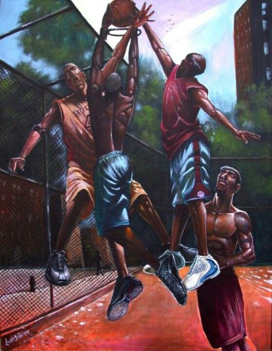 'To the hoop' by Lonnie Olivierre