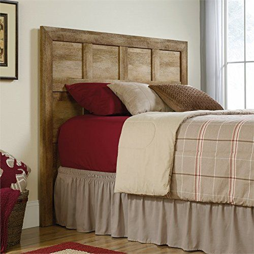 Take a pass on the ordinary. Make a bold statement with this headboard from the Dakota pass collection. Finished in a traditional rustic country craftsman oak. Detailed with inset paneling and framed edging, making this piece the perfect accent to any bedroom setting.Attaches to full or queen... more details available at https://furniture.bestselleroutlets.com/bedroom-furniture/beds-frames-bases/headboards-footboards/headboards/product-review-for-sauder-dakota-pass-full-queen