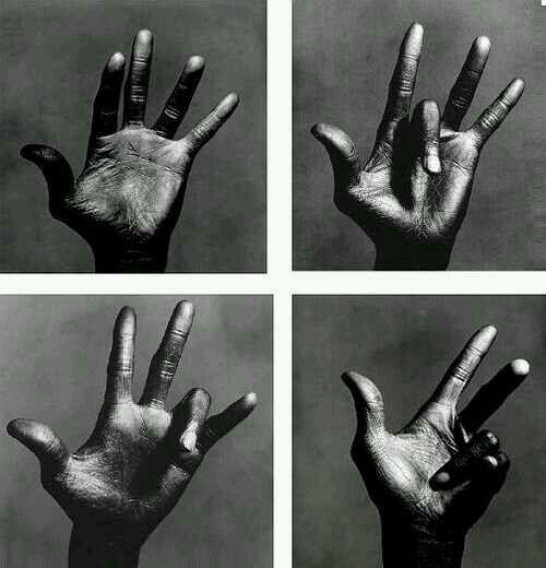 Miles' left hand.