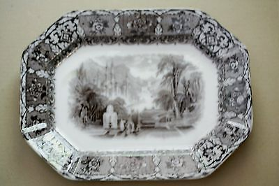 "Beautiful John Wedgwood 15"" Peruvian Ironstone Mulberry Octagon Platter 1849"