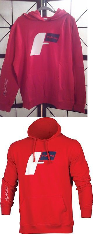 Hoodies and Sweatshirts 179770: Title Mma/Boxing Fighting Sports Demand Hoodie Hoody Sweatshirt Red Size: Large BUY IT NOW ONLY: $32.99