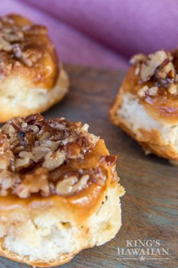 Perfect for a breakfast or brunch item. Everyone loves Mini Sticky Buns especially on KING'S HAWAIIAN bread.