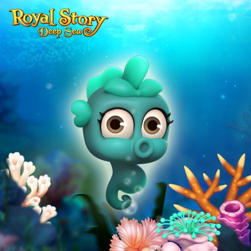 Meet the cutest of all Deep Sea Hippocamps in Royal Story! #royalstorygame #royalzoo #royalanimals