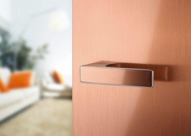 Měděná klika MT na vnitřní dveře
