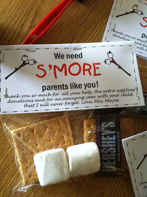 s'more parent giftThank You Gift, Parents Appreciation, Parents Gift, Gift Ideas, Parents Volunteers, Volunteers Gift, Appreciation Gift, Boys 4Th, 4Th Grade