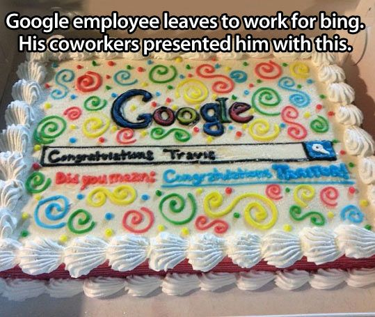 "Google ""going away"" cake for traitors"