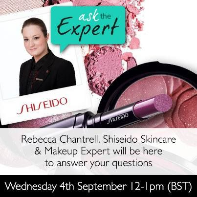 Rebecca Chantrell, Shiseido Makeup & Skincare Expert will be available on FeelUnique.com's Facebook page from 12pm TODAY  to answer your questions.    From how to achieve flawless skin to which lip colours to wear this autumn, Rebecca can offer expert advice across all beauty topics     Don't miss it!