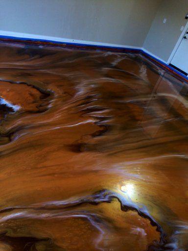 Colorful Metallic Epoxy Flooring Chandler Az Arizona