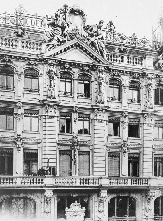 Friedrichstraße 43.. Hotel Friedrichshof.. ansicht von der Kochstraße.. um1906