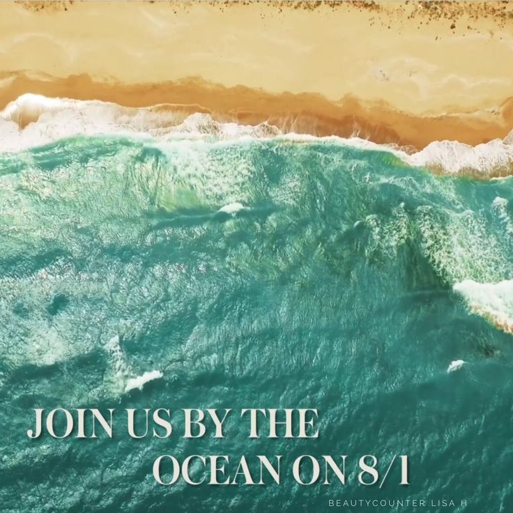 You're makeup bag's about to enjoy an ocean-inspired upgrade without leaving home. Find out more August 1st !! It's my birthday too!! So nice of Beautycounter to celebrate my birthday with a new Limited-Edition product launch! ;) #OceanInspired #Southern California #Beaches #Glow
