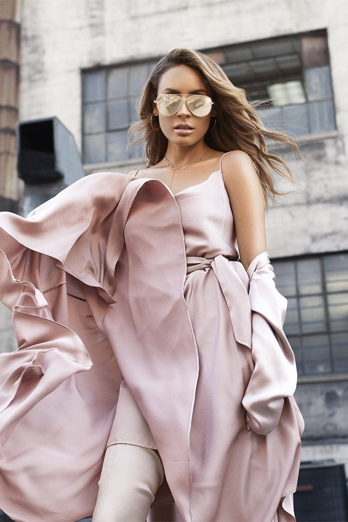 Quay Australia - X Desi Perkins Mini Gold/Gold High Key Designer Sunglasses