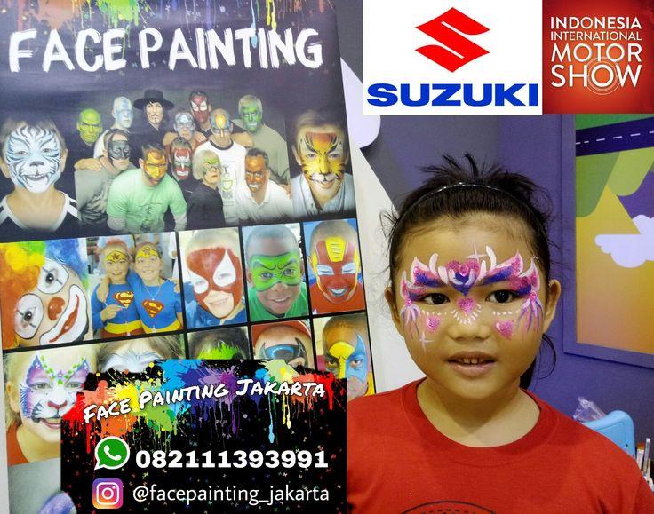 Face painting Jakarta di event IIMS 2017 bersama Suzuki. Kids corner face painting. Just info whatsapp 082111393991. Ig : @facepainting_jakarta
