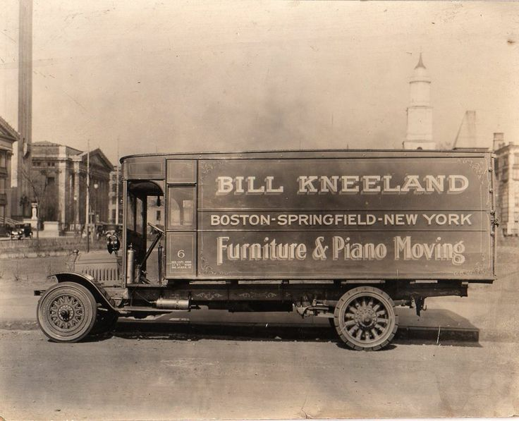 Photograph, circa 1930 of Moving Truck, Boston, MA Springfield MA. NY City - 70 Best Vintage Moving Images On Pinterest Advice, Big Rig